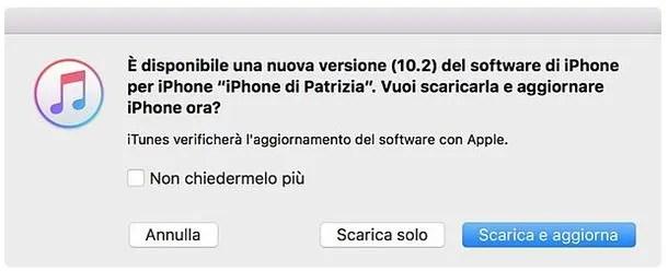 Come aggiornare iPhone da PC