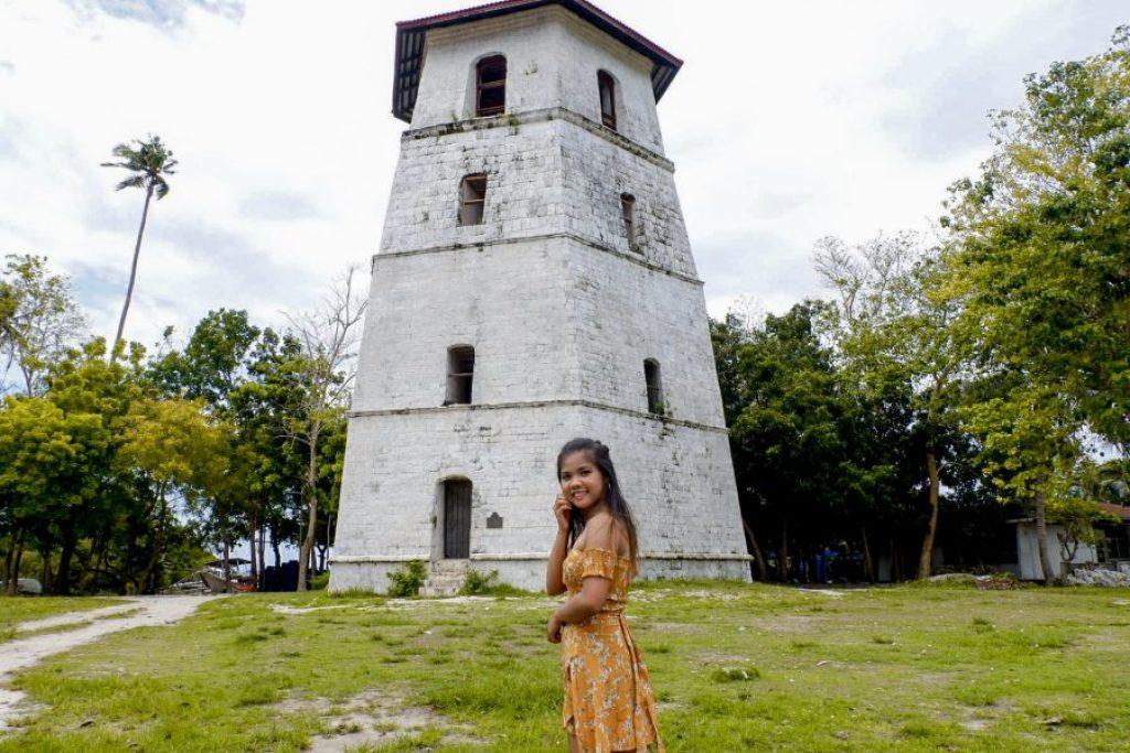 "ALT=""panglao bohol bell tower church"""