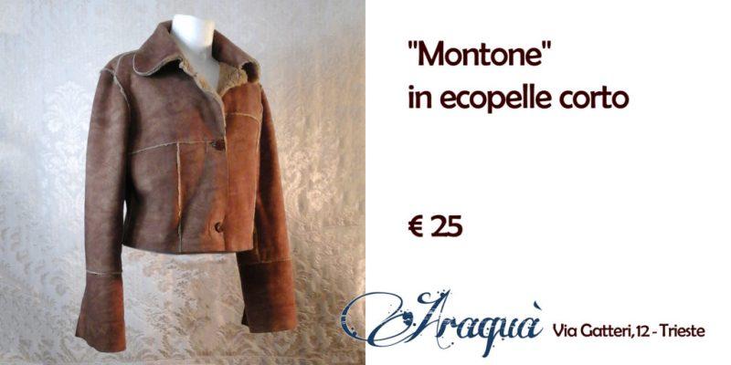 """""""Montone"""" in ecopelle corto - € 25"""