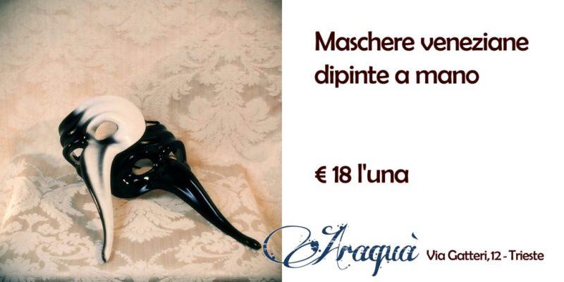 Maschere veneziane dipinte a mano € 18 l'una
