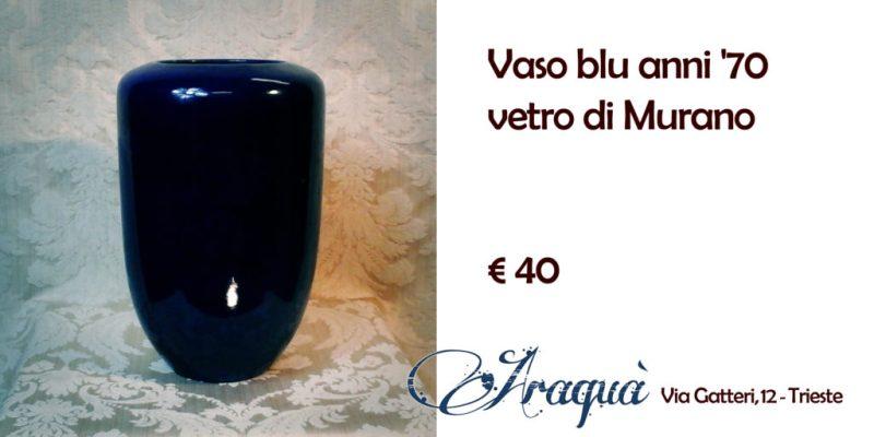 Vaso blu anni '70 vetro di Murano € 40