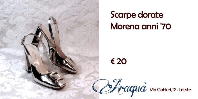 Scarpe dorate Morena anni '70 € 20