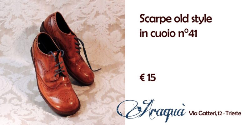 Scarpe old style in cuoio n°41 € 15