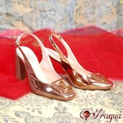 Scarpe dorate Morena anni '70 n°38 - € 20