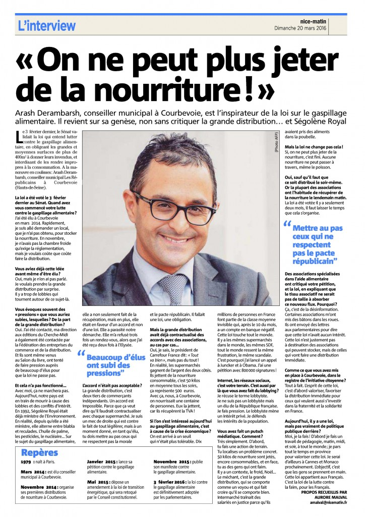 Nice Matin Arash Derambarsh