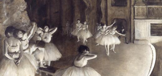 Edgar Degas Répétition d'un ballet sur la scène