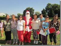Niños de campamentos de Temuco tuvieron su celebración navideña de manos del Gobierno.