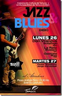 Afiche Blues y Jazz Atardecer