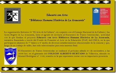 INVITACIÓN cierre proyecto - Encuentro de Teatro