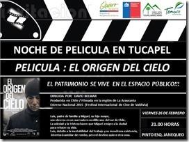 Difusión oficial cine en Tucapel.