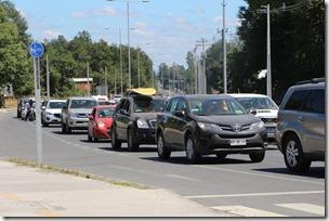 FOTO congestión vehicular pucón 2