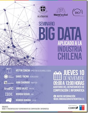 Afiche Big Data aplicado a la Industria Chilena