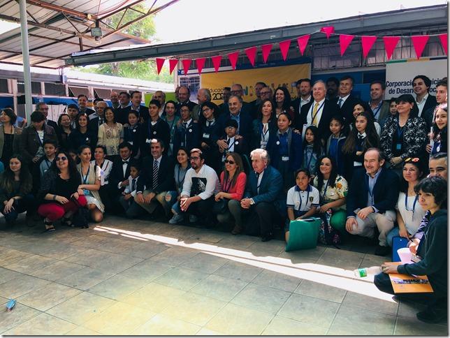 30 estudiantes y 30 empresarios participaron en la jornada en Santiago.