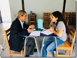Javiera Pinto, de Teodoro Schmidt, tutoró a Fernando Alvear, gerente general de la CPC (3).