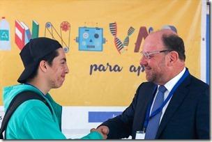 Maikol Muñoz, de Freire, tutoró a Alfredo Muñoz, presidente de la CPC (2).