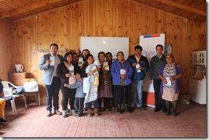 Representantes Agrupación de Turismo Newen Lafken Mapu