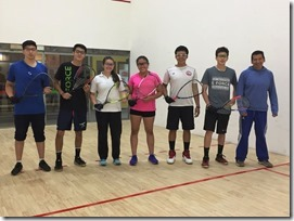 Equipo junior racquetball