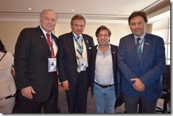 Miguel Becker, alcalde de Temuco, Sergio Bravo, rector UFRO, Rodrigo Navia, decano de Ingeniería UFRO