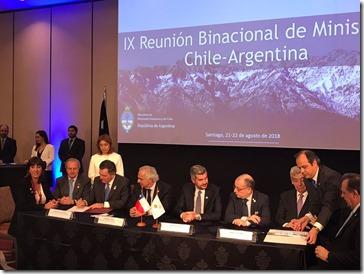 Firma acuerdo Chile y Argentina