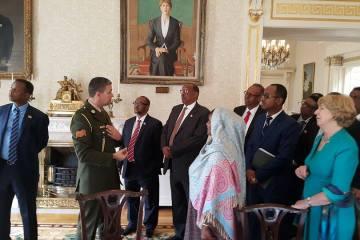 Muuqaalka Wefdiga Madaxweynaha Somaliland oo ku sugan qasriga Madaxtooyadda Ierland