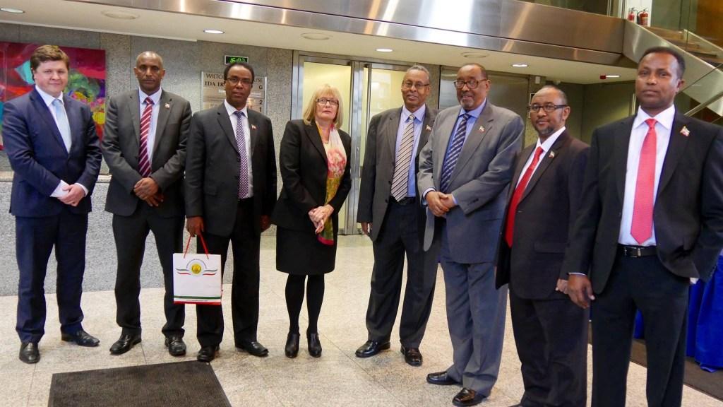 Michael D Higgins oo wefdiga Madaxweynaha Somaliland ku qaabilay qasriga Madaxtooyadda Ireland