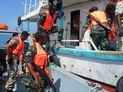 Somaliland Coast Guard boarded a small Dutch vessel maritime training