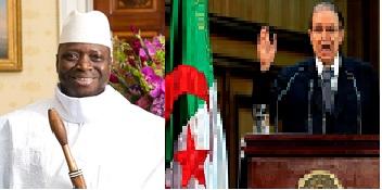 Madaxweynaha Dalka Gambia Yahya Abdul-Azia Jemus Junkung Jammeh (Bixid)   iyo Madaxweynaha dalka Algeria Mr. Cabdilcasis Bouteflika (Midig)