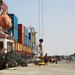 A cargo ship being loaded in the port of Berbera in Somaliland. Photo: ZACHARIAS ABUBEKER/Agence France-Presse/Getty Images