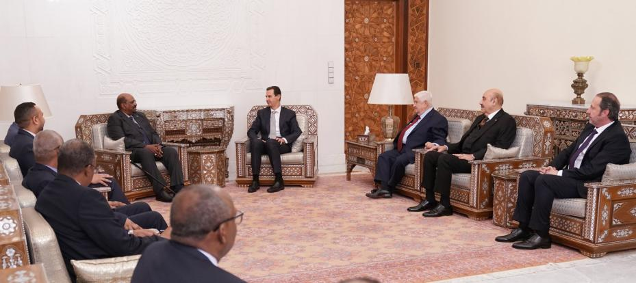 Sudanese President Omar Al-Bashir becomes the first Arabic leader to meet his Syrian counterpart Bashar Al-Assad in eight years on 16 December 2018 – [Syrian Presidency/Facebook]