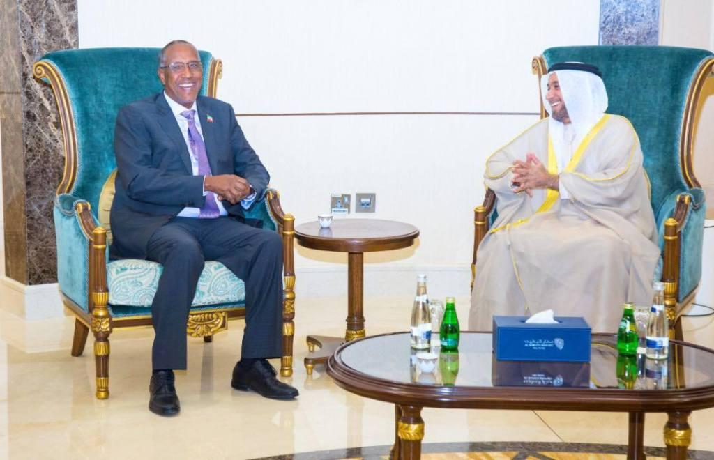Madaxweynaha Jamhuuriyadda Somaliland, Mudane Muuse Biixi Cabdi iyo Wasiirka Caddaaladda ee Imaaraadka, Sultan bin Saeed Al Badi Al Dhaheri Abu Dhabi 9 March 2019. Araweelo News Network