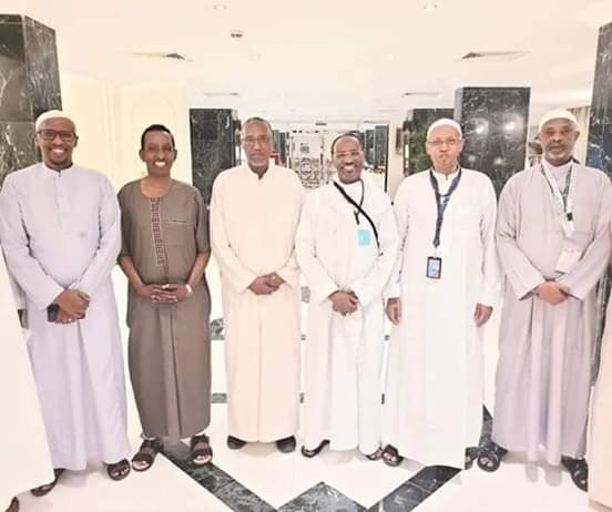 Sawirada kulanka Madaxweynaha Somaliland iyo xubnaha ku weheliyay kula yeesheen Makka Madaxda Soomaliya 13 August 2019, (Twitter)