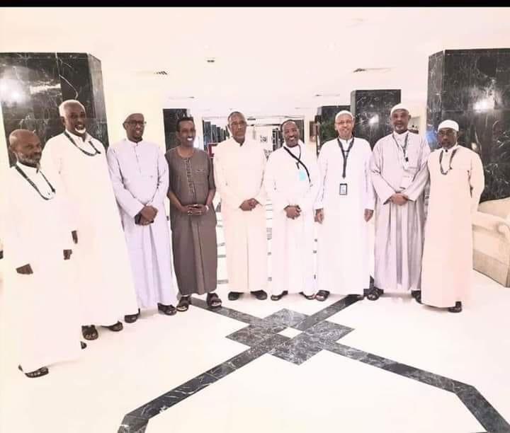 Kulanka Madaxweynaha Somaliland iyo xubnaha ku weheliyay kula yeesheen Makka Madaxda Soomaliya 13 August 2019