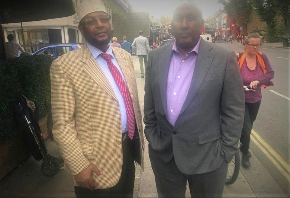 Muj. Axmed Mire Maxamed Nuux iyo Kayse Axmed Digaale iyo masuul kale. 30 Sep 2019, London