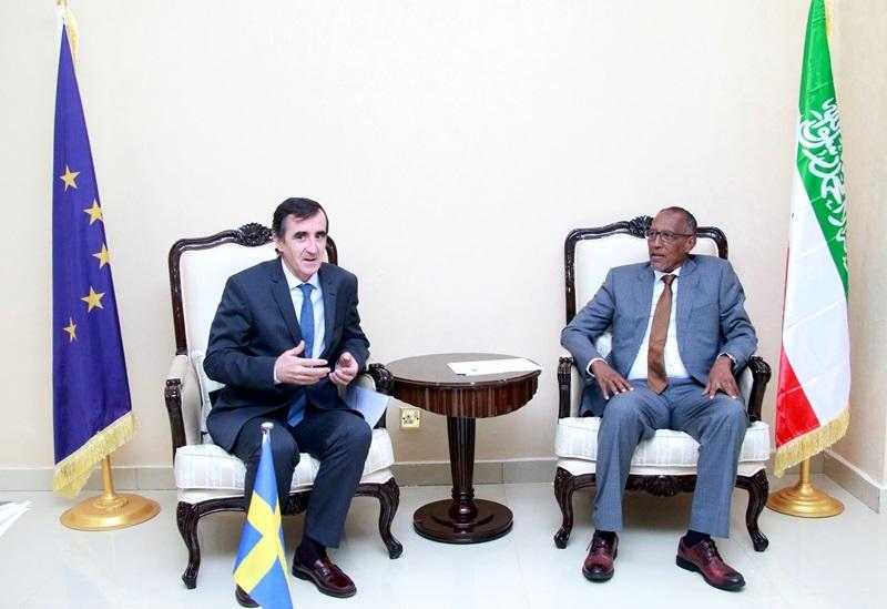Madaxweynaha Somaliland Muuse Biixi Cabdi iyo Ambassador  Nicolás Berlanga  Madaxtooyadda Somaliland 20 Oct, 2019.