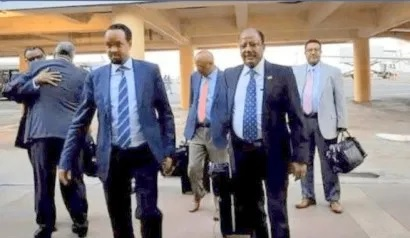 The delegation led by the Minister of Finance Ahmed Shire landed at Egal International Airport in Hargeisa, 19, Feb 2020, File Photo Araweelo News Network.