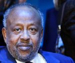 Djibouti's President Ismail Omar Guelleh on Tuesday, Nov. 12, 2019 in Paris. (Ludovic Marin/Pool via AP)