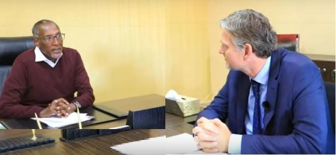 Madaxweynaha Somaliland Muuse Biixi iyo Safiirka Denmark Ambassador Ole Thonke, Araweelo News Network, 26 Jan 2021.