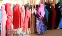 Women registering at one of Somaliland's registration centers in long queues in the Togdheer region, 27 December 2020, Image .Alt: Araweelo News Network.