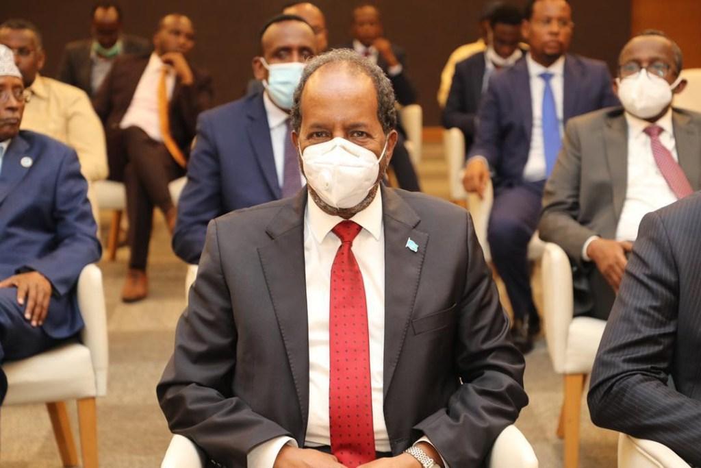 Kulanka Midawga murrashaxiinta iyo ra'iisal waasaraha Somalia Image File Araweelo News Network 25 February 2021.