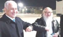 Jonathan Pollard, an American Jew who served thirty years in prison for spying for the Israeli regime,, greeted by Netanyahu