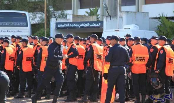 إجراءات أمنية مشدّدة في محيط ملعب محمد الخامس