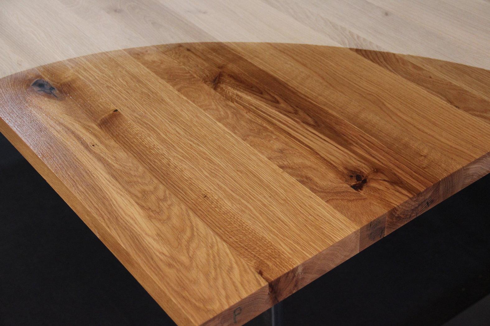Tischplatte Massivholz Wildeiche Asteiche Dl 40 X Diverse Langen X 1210 Mm