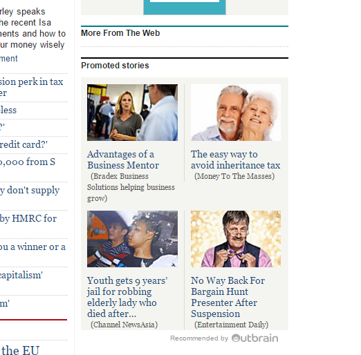 telegraph outbrain promoted stories