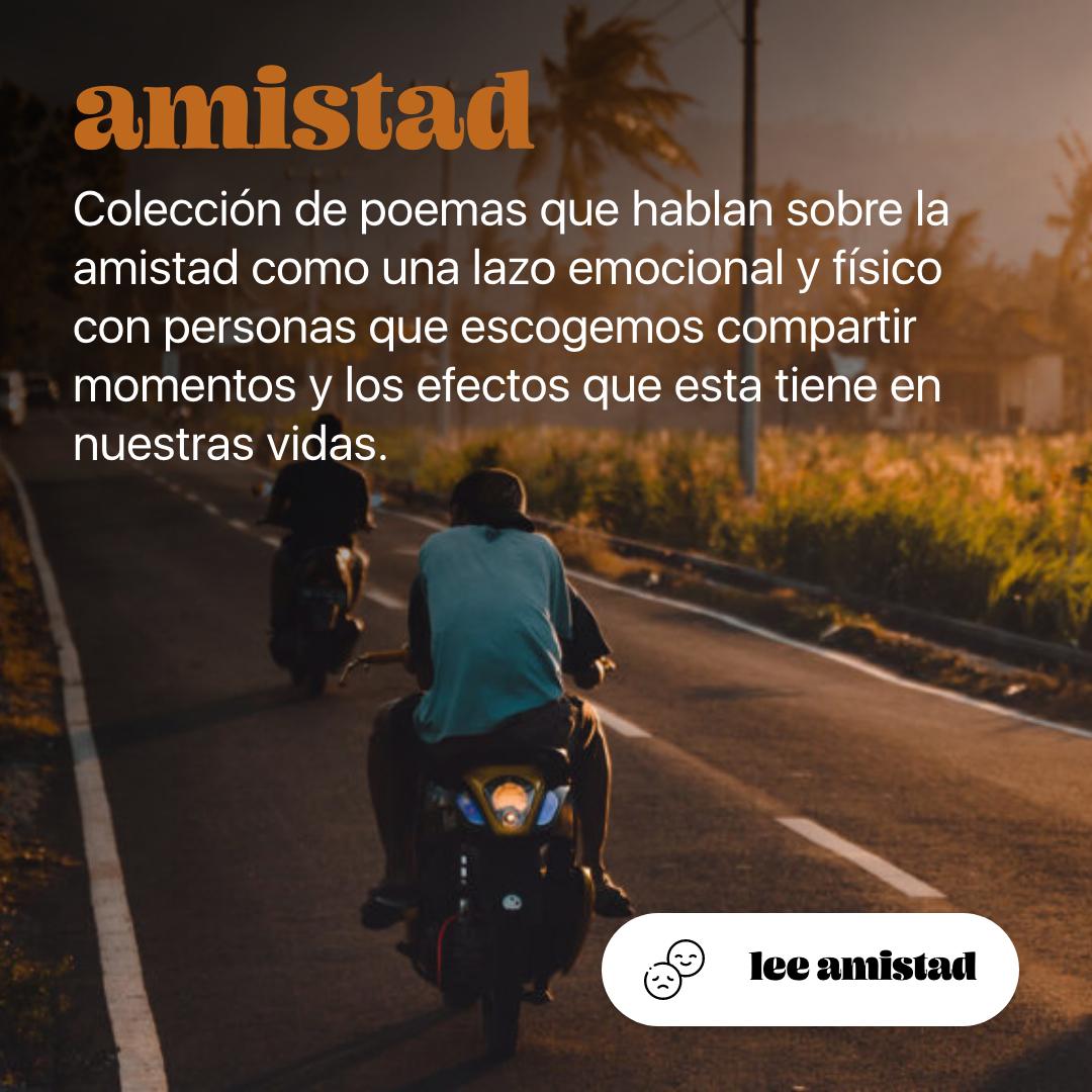 Colección de poemas de amistad | Arbol Fugaz