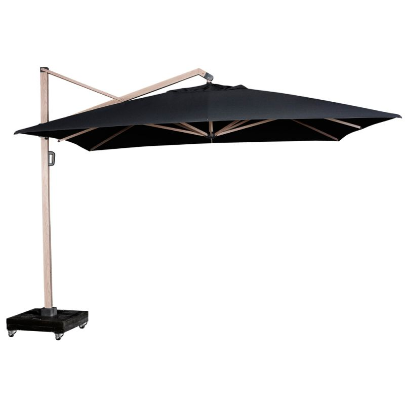 parasol deporte inclinable 4x3 m icon structure chene