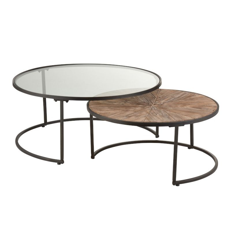 tables basses rondes gigognes o91 cm