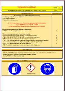 Veiligheids instructie kaart