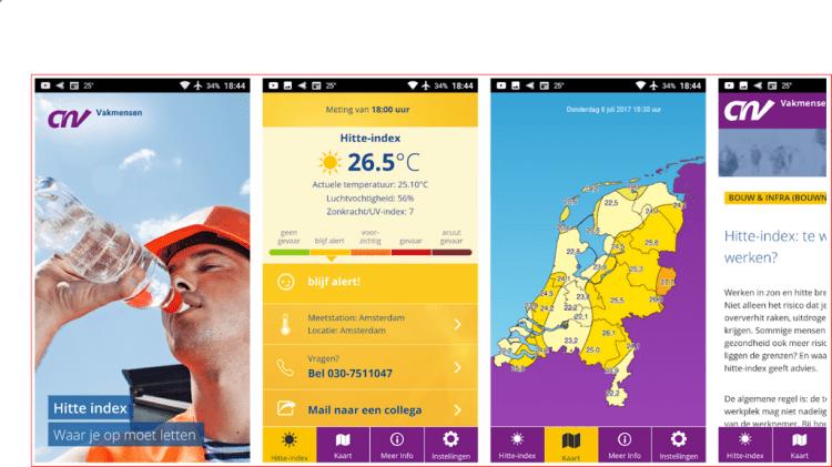 hitte warmte app