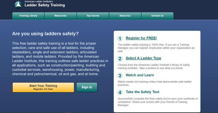 ladder safety site