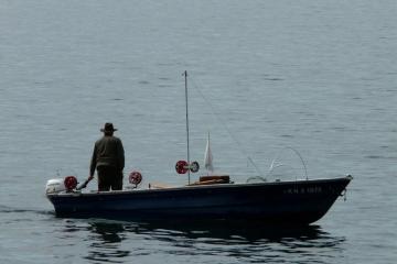 boot alleen werken